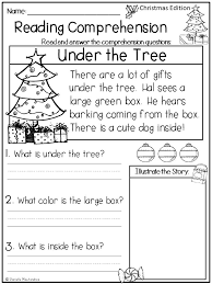 december christmas reading comprehension passages for young