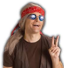 bandana hippie mens womens hippie 60 s 70 s wig hair w bandana costume