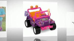 barbie jammin jeep power wheels dora the explorer jeep wrangler youtube