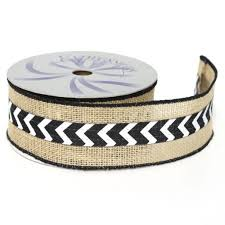 black and white wired ribbon cheap burlap wired edge ribbon find burlap wired edge ribbon