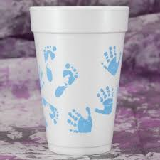 foam cups blue and prints baby shower foam cups paperstyle