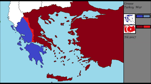 Greece Turkey Map by Greece Turkey War Youtube