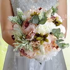 silk wedding bouquets satin silk bridal bouquets 123114695 wedding flowers