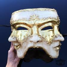 men masquerade masks found on from theatre