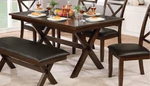 cherry dining room tables dark cherry transitional 6 piece dining set with bench westerly