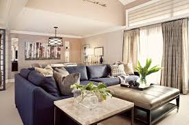Navy Sectional Sofa Modern Navy Blue Sectional Family Room Transitional With Wall
