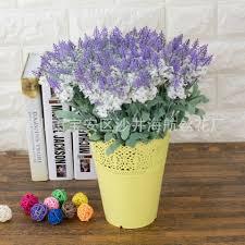 fake flowers for home decor wedding home decor 10 head lavender flower bouquet silk flowers