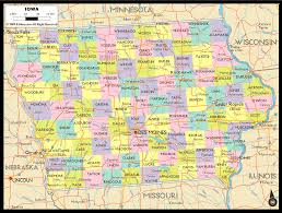 Map Of Florida Cities And Counties by Map Of Iowa Cities Counties State Map Of Usa States