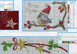 cross stich merry christmas bird cross stitch brynja pinterest