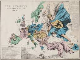 World War 1 Map Of Europe Politics Personified Fred W Rose And Liberal U0026 Tory Serio Comic