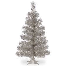the aisle tinsel trees 3 silver artificial tree