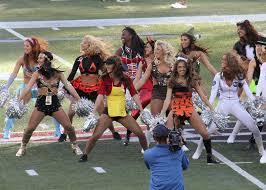 nfl cheerleaders celebrate halloween in costume