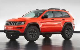 jeep cherokee sport interior 2017 jeep reveals six wild grand cherokee wranger moab concepts auto