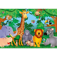 ideal decor 100 in x 144 in the jungle wall mural dm122 the ideal decor 100 in x 144 in the jungle wall mural
