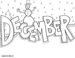 months coloring pages classroom doodles