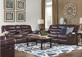 Sky Ridge Mahogany  Pc Leather Living Room  Find - Affordable living room sets