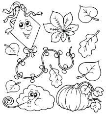 leaf coloring pages printable page free download autumn stencils