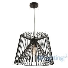 mercator zurich large black wire shade pendant light mp7231l