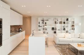 apartment brick backsplash white kitchen cabinet and custom white