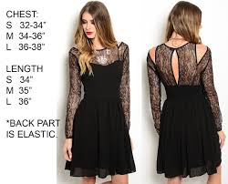 womens long sleeve lace a line casual cocktail evening party