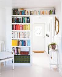 Bookshelves Small Spaces small space storage solution look above the door small space