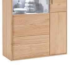 Wohnzimmerschrank Highboard Wohnwand Highboard Vernella Aus Eiche Bianco Wohnen De