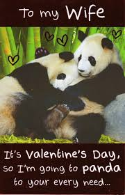 Cute Valentine Memes - to my wife funny panda valentine s day card cards love kates