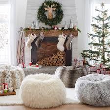 sheepskin beanbag bedroom transitional with animal skin rug