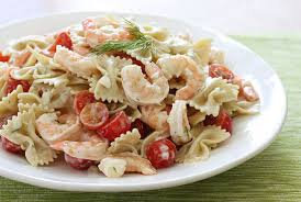 creamy pasta salad recipe creamy pasta salad with shrimp and tomatoes smart balance