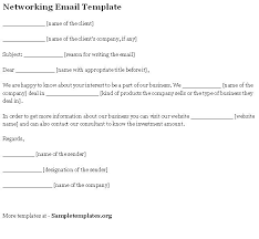 networking e mail template
