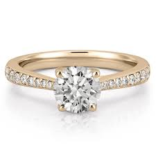 engagement rings yellow gold tapered engagement ring delicate tapered engagement ring do