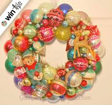 win a vintage shiny brite ornament wreath made by