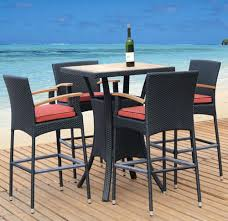 Bar Height Patio Furniture Clearance Patio Ideas Patio Cool Black And Square Unique Wooden Patio