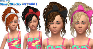 childs hairstyles sims 4 bow hair for little girls 3to4 by juliej sims 4 nexus