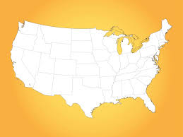 Blank Map United States Printable by