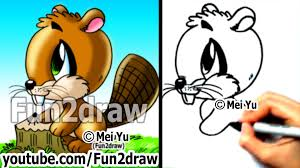 how to draw easy how to draw a beaver drawing