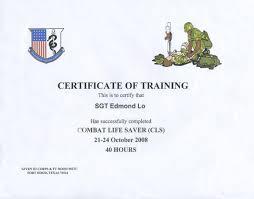Combat Lifesaver Certificate Template combat lifesaver certificate template combat lifesaver certificate