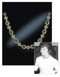 emerald drop emerald drop necklace president presidential history jfk jbk