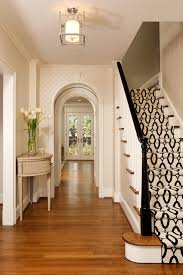 Painted Banister Ideas Painting Banister With Corner Window Staircase Traditional And