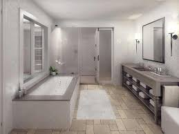 cozy 16 bathroom with grey floor on marble basketweave tiles floor
