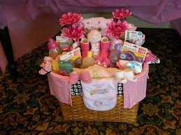baby shower baskets great ba shower gift basket ideas match the theme and color horsh