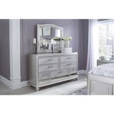 signature design by ashley coralayne silver bedroom dresser with