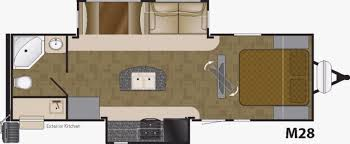 rear kitchen rv floor plans best kitchen designs
