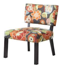 Printed Fabric Armchairs Amazon Com Powell Bright Floral Print Accent Chair Kitchen U0026 Dining