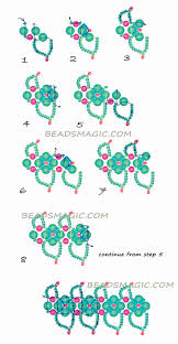 366 best necklace patterns images on pinterest beads necklaces