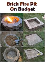 How To Make A Firepit Out Of Bricks Brick Pit On Budget Bricks Backyard And Yards
