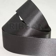 grey ribbon grey acetate satin ribbon 100 metres