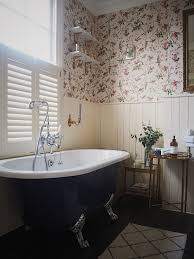 mini bathroom makeover using wallpaper in the bathroom u2014 melanie