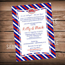 ole miss football bridal shower invitation tailgate party