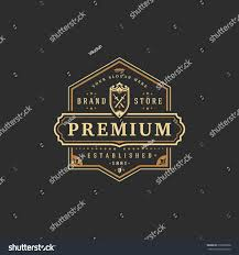 luxury logo template vector object logotype stock vector 615006608